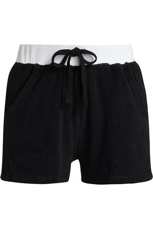 Electric & Rose Women's Savile Colorblock Drawstring Shorts - Onyx Cloud - Size XS