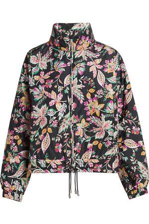 Isabel Marant Women's Dolores Floral Print Drawstring Jacket - Size 6