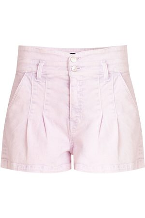 VERONICA BEARD Women's Jaylen Notch Shorts - Lavender - Size 31