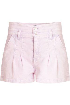 VERONICA BEARD Women's Jaylen Notch Shorts - Lavender - Size 31