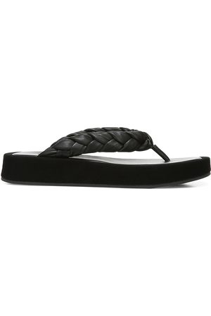Vince Women's Nita Braided Leather Thong Platform Sandals - - Size 9.5