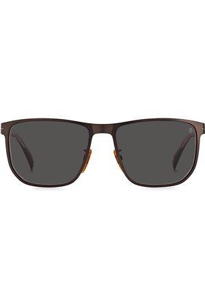 David beckham Men's 58MM Rectangle Sunglasses - Matte