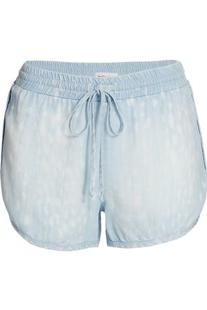 Bella Dahl Women's Sporty Shorts - Animal Spot Denim - Size Small