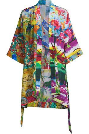 Robert Graham Women's Jamie Collage Print Kimono - Size Large