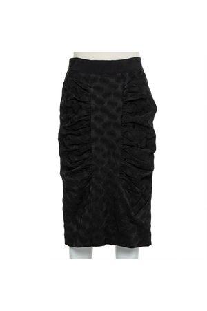 Dolce & Gabbana Jacquard Draped Detail Pencil Skirt L