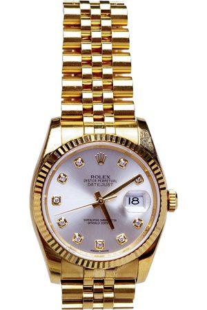 Rolex Diamonds 18K Yellow Gold Datejust Men's Wristwatch 36 MM