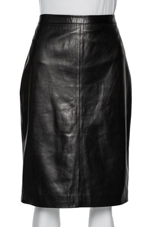 Givenchy Women Pencil Skirts - Dark Leather Pencil Skirt L