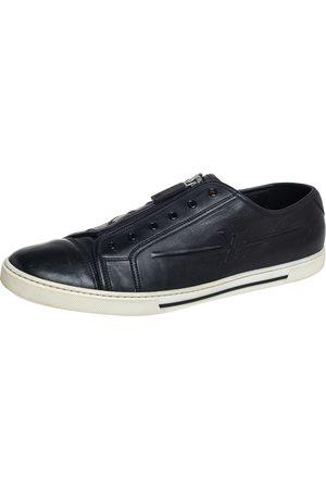 LOUIS VUITTON Louise Vuitton Leather Low Top Sneaker Size 44.5