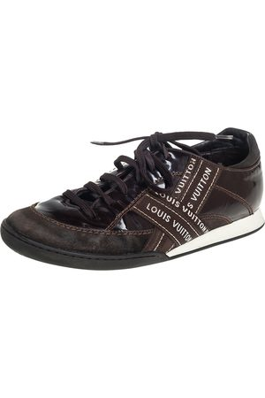 LOUIS VUITTON Suede And Patent Leather Low Top Sneaker Size 39