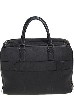LOUIS VUITTON Leather Double Zip Documents Bag