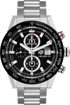 Tag Heuer Stainless Steel Carrera Chronograph Automatic CAR201Z Men's Wristwatch 43 MM