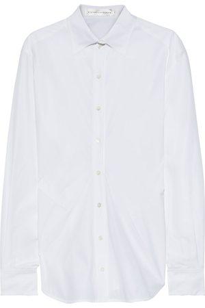 Victoria Beckham Woman Cotton-poplin Shirt Size 14