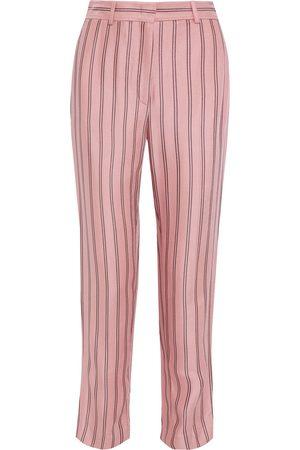 Emilio Pucci Woman Striped Satin-twill Straight-leg Pants Baby Size 38