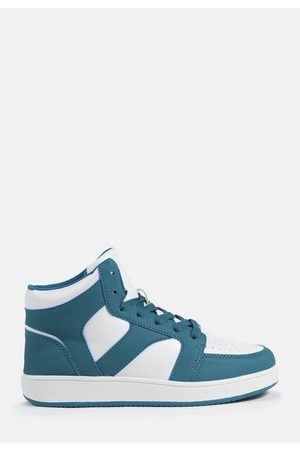 Missguided Teal High Top Sneakers