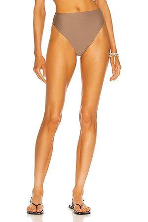 Jade Swim Incline Bikini Bottom in Taupe