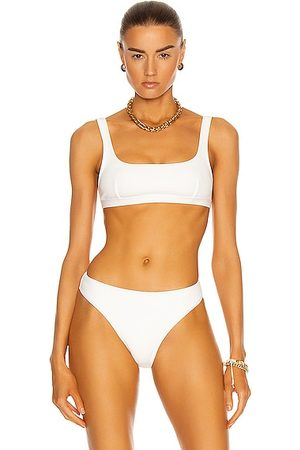 MATTEAU Nineties Crop Bikini Top in White