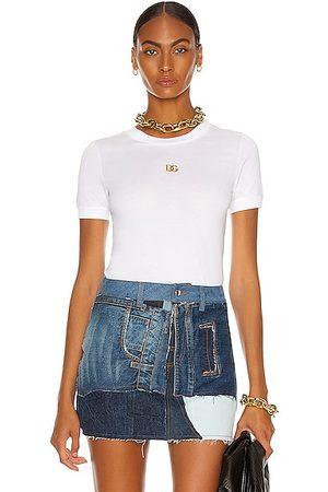 Dolce & Gabbana Logo Crew Neck T Shirt in White