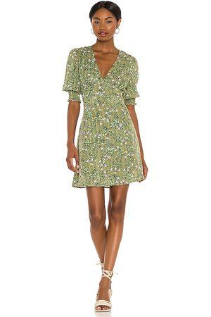 Minkpink Tully A Line Mini Dress in Green.
