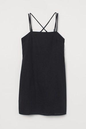 H&M Women Bodycon Dresses - Linen-blend Dress