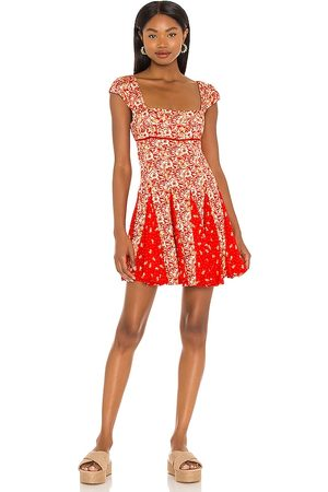 Free People Women Party Dresses - Ponderosa Mini Dress in Red.