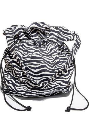 Lele Sadoughi Women Tote Bags - LELE X SOLID & STRIPED ZEBRA JACQUARD PENELOPE TOTE