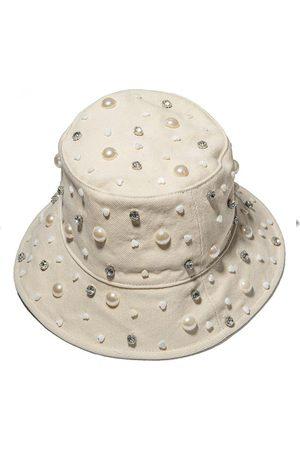 Lele Sadoughi Women Hats - IVORY JEWELED BUCKET HAT