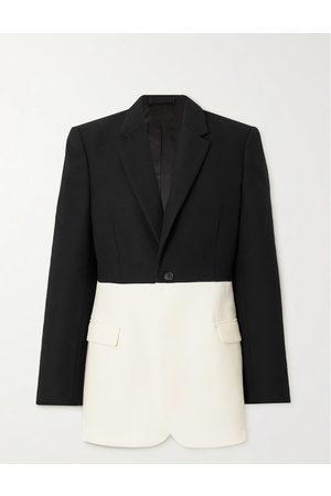 WARDROBE.NYC Women Blazers - Two-tone grain de poudre merino wool blazer