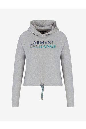 Armani Hoodie Grey Cotton, Viscose