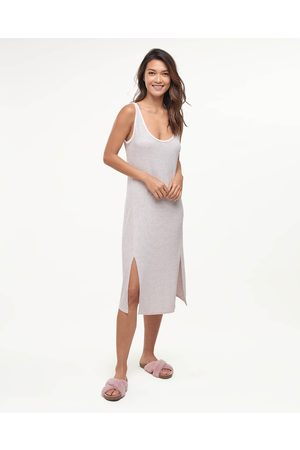 Splendid Women Nightdresses & Shirts - Womens Scoop Neck Night Gown Girlfriend Stripe - Size L