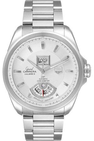 Tag Heuer Stainless Steel Grand Carrera GMT Chronograph WAV5112 Men's Wristwatch 42.5 MM
