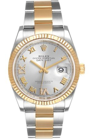 Rolex Diamonds 18K Yellow Gold And Stainless Steel Datejust 126233 Men's Wristwatch 36 MM