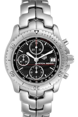 Tag Heuer Stainless Steel Link Chronograph CT2114 Men's Wristwatch 41 MM