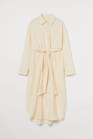 H&M Tie-front Shirt Dress