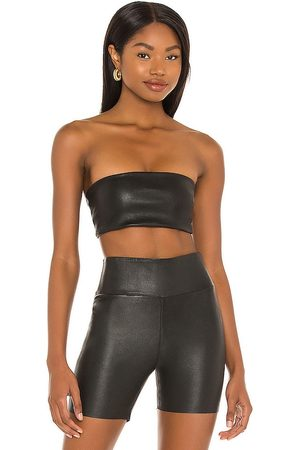SPRWMN Leather Bandeau Top in .