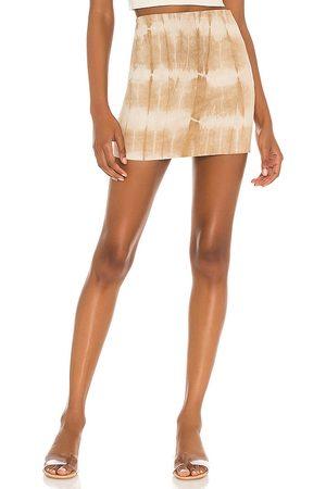 SPRWMN Ultra Mini Skirt in Tan.