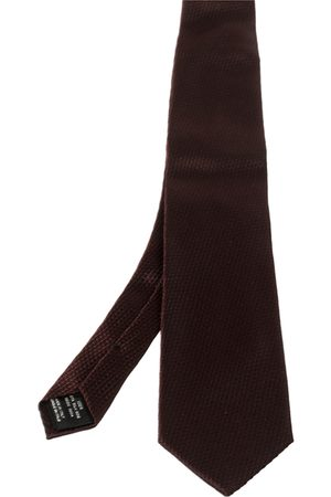Tom Ford Men Neckties - Burgundy Jacquard Silk Tie