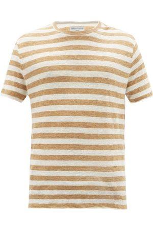 OFFICINE GENERALE Striped Linen-jersey T-shirt - Mens