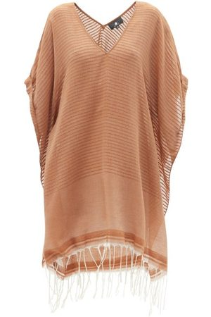 SU Paris Luma Fringed Striped Cotton-voile Kaftan - Womens