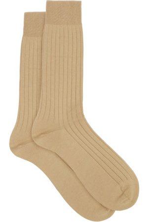 Pantherella Pembrey Ribbed Sea Island Cotton-blend Socks - Mens
