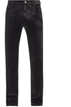 Balenciaga Velvet Slim-leg Trousers - Mens