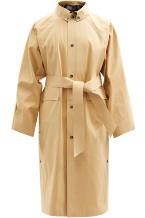 Kassl Editions Belted Cotton-blend Canvas Trench Coat - Mens