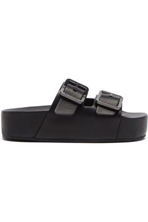 Balenciaga - Mallorca Leather Platform Slides - Womens