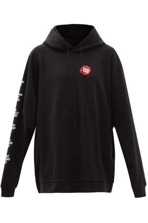 Raf Simons - Teenage Dreams Badge Hooded Cotton Sweatshirt - Womens