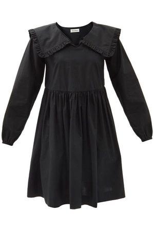Molly Goddard Atlanta Frilled-collar Cotton-poplin Mini Dress - Womens