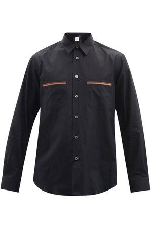 Paul Smith - Artist-stripe Point Collar Cotton-poplin Shirt - Mens