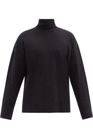 Raey Men Long Sleeve - Funnel-neck Long-sleeved T-shirt - Mens