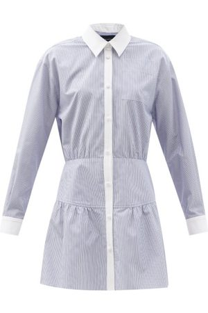 Julie De Libran X Charvet Charlotte Striped Cotton Shirt Dress - Womens - Stripe