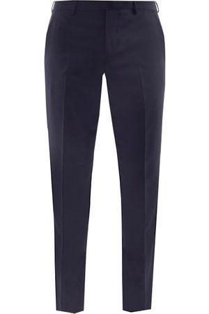 Paul Smith Wool-blend Fresco Slim-leg Trousers - Mens - Dark Navy