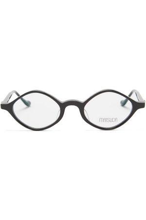 MATSUDA Diamond Acetate Glasses - Mens