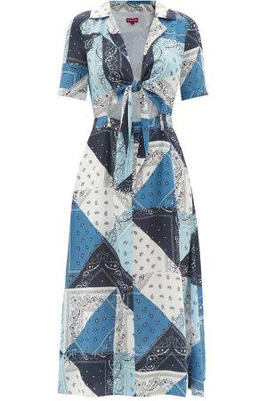 Staud - Giorgiana Bandana-print Recycled-fibre Dress - Womens - Multi